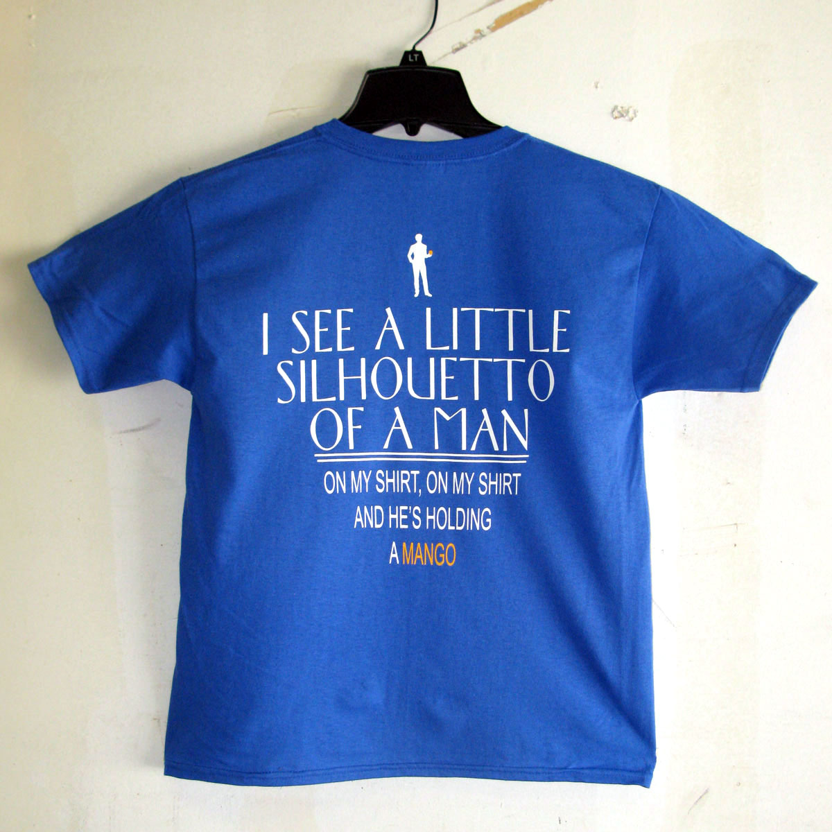 Photo of the back of the Short Elementary School screen printed t-shirt